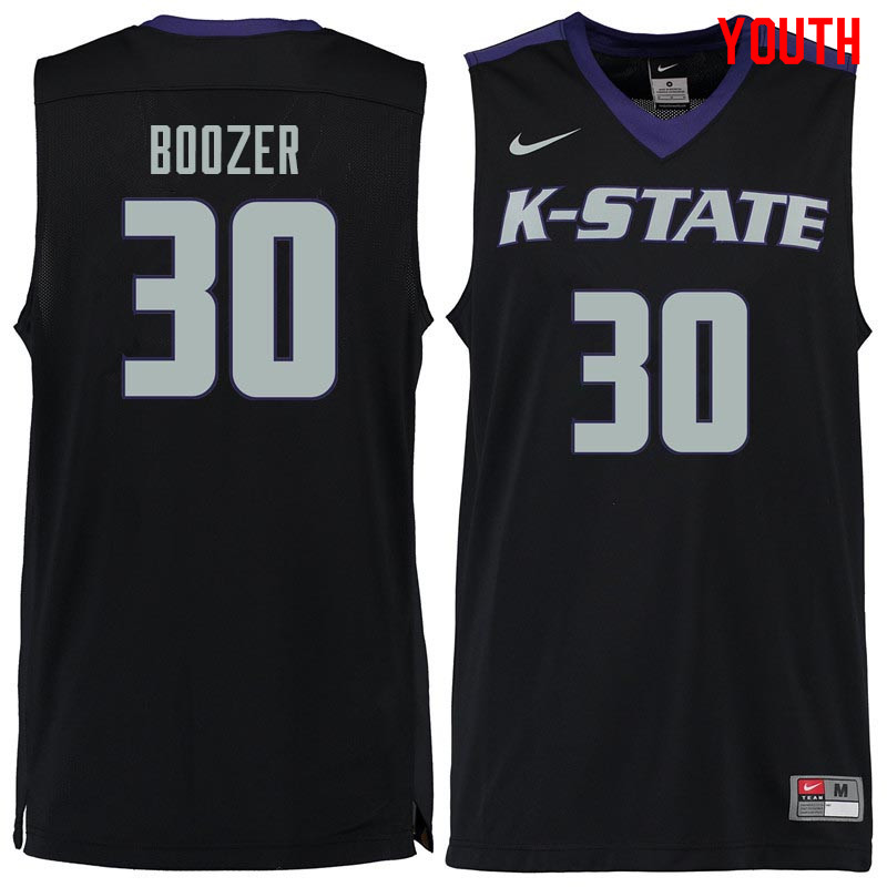 Youth #30 Bob Boozer Kansas State Wildcats College Basketball Jerseys Sale-Black